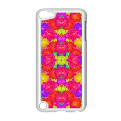 Multicolor Floral Check Apple Ipod Touch 5 Case (white) by dflcprints
