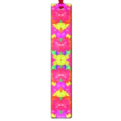 Multicolor Floral Check Large Book Marks by dflcprints