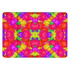 Multicolor Floral Check Samsung Galaxy Tab 8 9  P7300 Flip Case by dflcprints