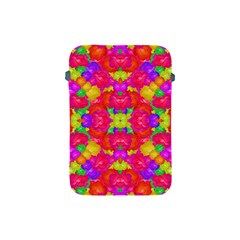 Multicolor Floral Check Apple Ipad Mini Protective Soft Cases by dflcprints