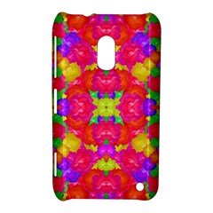 Multicolor Floral Check Nokia Lumia 620 by dflcprints