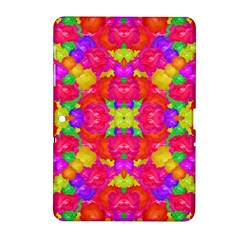 Multicolor Floral Check Samsung Galaxy Tab 2 (10 1 ) P5100 Hardshell Case  by dflcprints
