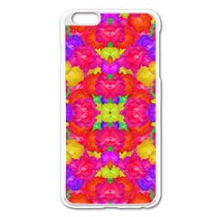 Multicolor Floral Check Apple Iphone 6 Plus/6s Plus Enamel White Case by dflcprints