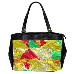 Colorful 3d Texture   Oversize Office Handbag (2 Sides) by LalyLauraFLM