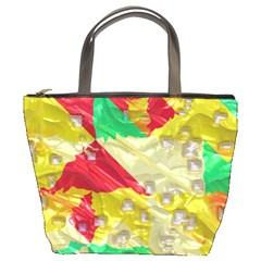 Colorful 3d Texture   bucket Bag