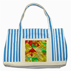 Colorful 3D texture   			Striped Blue Tote Bag by LalyLauraFLM