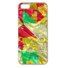 Colorful 3d Texture   			apple Seamless Iphone 5 Case (clear) by LalyLauraFLM