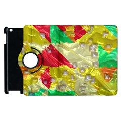 Colorful 3d Texture   			apple Ipad 2 Flip 360 Case by LalyLauraFLM