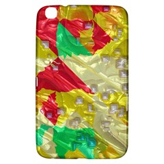 Colorful 3d Texture   samsung Galaxy Tab 3 (8 ) T3100 Hardshell Case by LalyLauraFLM