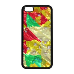 Colorful 3d Texture   apple Iphone 5c Seamless Case (black) by LalyLauraFLM