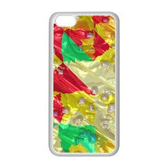 Colorful 3d Texture   			apple Iphone 5c Seamless Case (white) by LalyLauraFLM