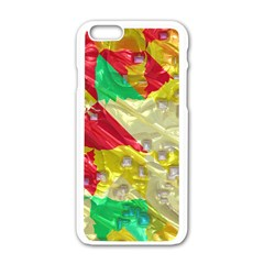 Colorful 3d Texture   			apple Iphone 6/6s White Enamel Case by LalyLauraFLM