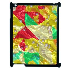 Colorful 3d Texture   apple Ipad 2 Case (black) by LalyLauraFLM