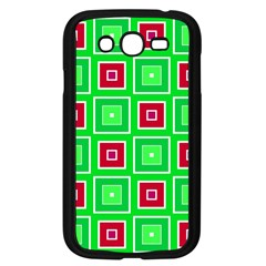 Green red squares pattern    Samsung Galaxy Grand DUOS I9082 Case (Black) by LalyLauraFLM