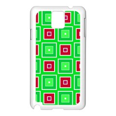 Green Red Squares Pattern    			samsung Galaxy Note 3 N9005 Case (white) by LalyLauraFLM