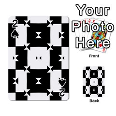 Black And White Check Pattern Playing Cards 54 Designs  by dflcprints