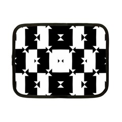 Black And White Check Pattern Netbook Case (small)  by dflcprints