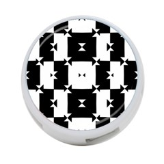 Black And White Check Pattern 4 Port Usb Hub (one Side) by dflcprints