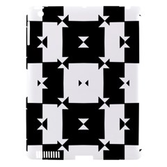 Black And White Check Pattern Apple Ipad 3/4 Hardshell Case (compatible With Smart Cover) by dflcprints
