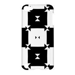 Black And White Check Pattern Apple Ipod Touch 5 Hardshell Case by dflcprints