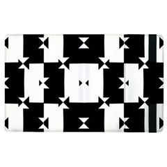 Black And White Check Pattern Apple Ipad 2 Flip Case by dflcprints