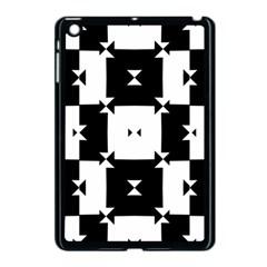Black And White Check Pattern Apple Ipad Mini Case (black) by dflcprints