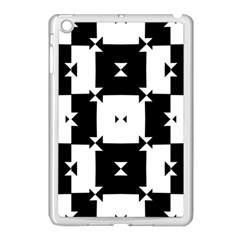 Black And White Check Pattern Apple Ipad Mini Case (white) by dflcprints