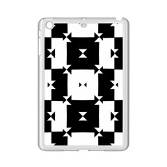 Black And White Check Pattern Ipad Mini 2 Enamel Coated Cases by dflcprints