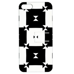 Black And White Check Pattern Apple Iphone 5 Hardshell Case With Stand by dflcprints