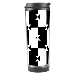 Black And White Check Pattern Travel Tumblers by dflcprints