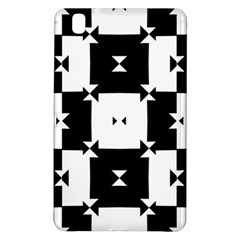 Black And White Check Pattern Samsung Galaxy Tab Pro 8 4 Hardshell Case by dflcprints