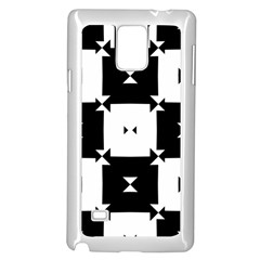 Black And White Check Pattern Samsung Galaxy Note 4 Case (white) by dflcprints