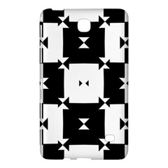 Black And White Check Pattern Samsung Galaxy Tab 4 (7 ) Hardshell Case  by dflcprints