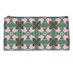 Pink Brown Flowers Pattern     	pencil Case by LalyLauraFLM