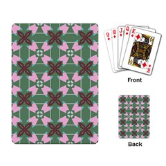 Pink Brown Flowers Pattern     			playing Cards Single Design by LalyLauraFLM
