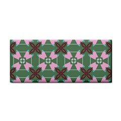 Pink Brown Flowers Pattern     			hand Towel by LalyLauraFLM