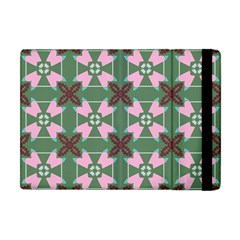 Pink Brown Flowers Pattern     			apple Ipad Mini Flip Case by LalyLauraFLM
