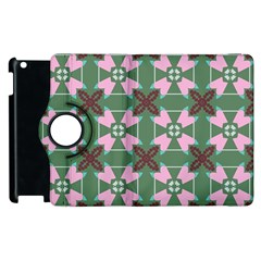 Pink Brown Flowers Pattern     apple Ipad 3/4 Flip 360 Case by LalyLauraFLM