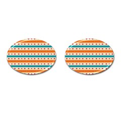 Rhombus And Stripes Pattern      			cufflinks (oval) by LalyLauraFLM