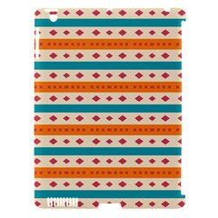 Rhombus And Stripes Pattern      apple Ipad 3/4 Hardshell Case (compatible With Smart Cover) by LalyLauraFLM