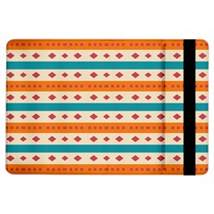 Rhombus And Stripes Pattern      			apple Ipad Air Flip Case by LalyLauraFLM