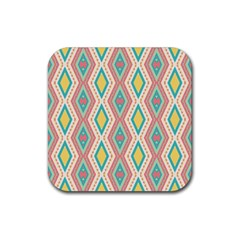 Rhombus Chains       			rubber Square Coaster (4 Pack by LalyLauraFLM