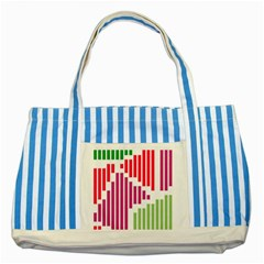 Vertical Stripes    striped Blue Tote Bag by LalyLauraFLM