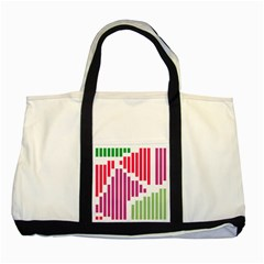 Vertical Stripes    			two Tone Tote Bag by LalyLauraFLM