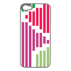 Vertical Stripes    			apple Iphone 5 Case (silver) by LalyLauraFLM