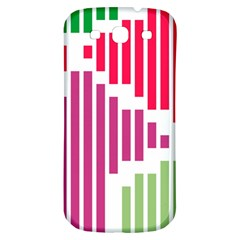 Vertical Stripes    samsung Galaxy S3 S Iii Classic Hardshell Back Case by LalyLauraFLM
