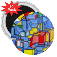 3d Shapes 			3  Magnet (10 Pack) by LalyLauraFLM