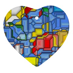 3d Shapes ornament (heart) by LalyLauraFLM