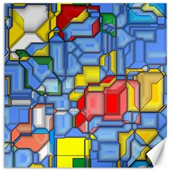 3d Shapes 			canvas 20  X 20  by LalyLauraFLM