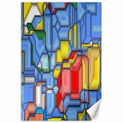 3d Shapes 			canvas 20  X 30  by LalyLauraFLM